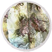 Autumn Leaves Round Beach Towel
