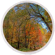 Round Beach Towel featuring the photograph Autumn Light by Rodney Campbell