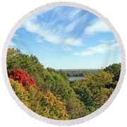 Autumn Lookout Round Beach Towel