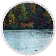 Autumn Round Beach Towel by Melissa Messick