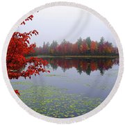 Autumn On The Bellamy Round Beach Towel