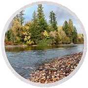 Autumn On The Molalla Round Beach Towel