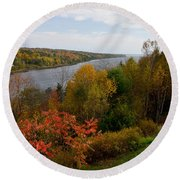 Autumn On The Penobscot Round Beach Towel
