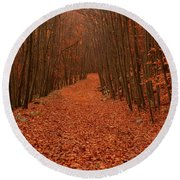 Autumn Passage Round Beach Towel by Raymond Salani III