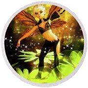 Autumn Pixie Round Beach Towel