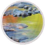 Autumn Reflections Round Beach Towel by Sharon Seaward