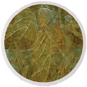 Autumn Reverie Round Beach Towel by Lynda Lehmann