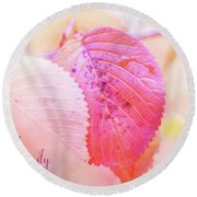 Autumn Serenity Round Beach Towel