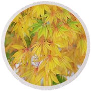 Autumn Shades Round Beach Towel