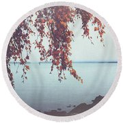 Autumn Shore Round Beach Towel
