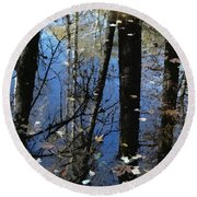 Autumn Signs Round Beach Towel