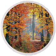 Autumn Splendour Round Beach Towel