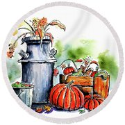 Autumn Still Life 1 Round Beach Towel