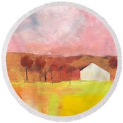 Autumn Stillness Round Beach Towel