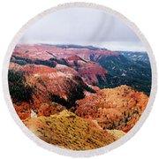 Round Beach Towel featuring the photograph Autumn Storm At Cedar Breaks by TL Mair