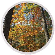 Autumn Sunday Round Beach Towel