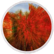 Round Beach Towel featuring the photograph Autumn Time by Vladimir Kholostykh