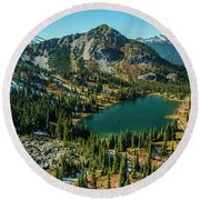 Autumn View Round Beach Towel
