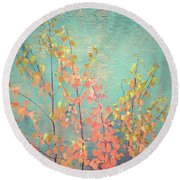 Autumn Wall Round Beach Towel