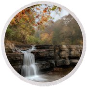 Autumn Water Round Beach Towel