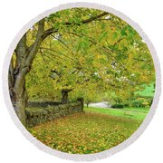 Autumn Wonderland Round Beach Towel