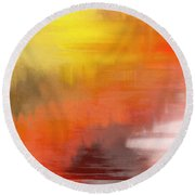 Autumnal Abstract  Round Beach Towel