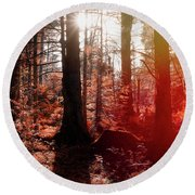 Autumnal Afternoon Round Beach Towel