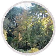 Autumnal Delight Madrid Round Beach Towel