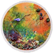 Autumnal Enchantment Round Beach Towel by Donna Blackhall