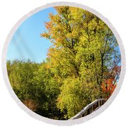 Autumnal North Bridge Round Beach Towel