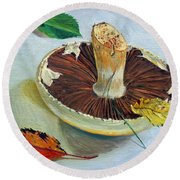 Autumnal Still Life, Round Beach Towel
