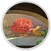 Autumn's Glory Round Beach Towel