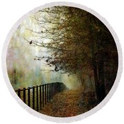 Autumns Path 7864 Idp_2 Round Beach Towel