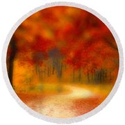 Autumn's Promise Round Beach Towel
