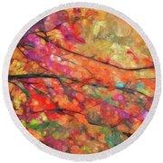 Autumns Splendorous Canvas Round Beach Towel