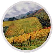 Autunno Italiano Round Beach Towel by Jennie Breeze