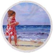 Ava Rosie Round Beach Towel