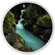 Avalanche Creek Round Beach Towel