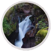 Avalanche Gorge 3 Round Beach Towel