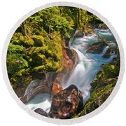Avalanche Gorge Round Beach Towel