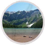 Avalanche Lake Round Beach Towel