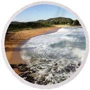 Round Beach Towel featuring the photograph Avalon Beach by Nicholas Blackwell