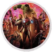Avengers Infinity War Round Beach Towel