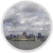 A View From New Jersey 1 Round Beach Towel