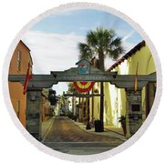 Aviles Street Round Beach Towel