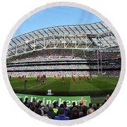 Aviva Stadium Panorama - Dublin Round Beach Towel