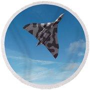 Round Beach Towel featuring the digital art Avro Vulcan -1 by Paul Gulliver