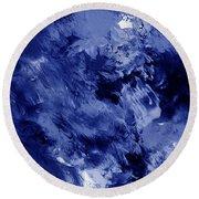 Awakened Sky- Abstract Art By Linda Woods Round Beach Towel
