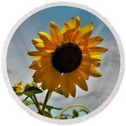 2001 - Awakening Sunflower Round Beach Towel