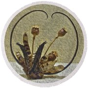 Round Beach Towel featuring the painting Award Winning Florals by Joan Reese